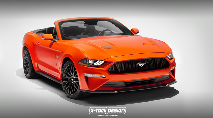 Ford Mustang Convertible 2018 render